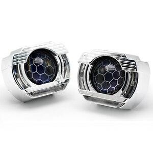Image 2 - 2.5 lenti per fari LED Angel Eyes lente bi xeno Devil Eyes proiettore per proiettori H4 H7 H1 accessori per luci auto Tuning