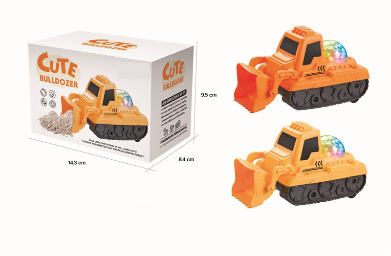 New Style Glowing Toy Music E-Bike Universal Wheel Bulldozer Children'S Educational Toy Stall Supply Of Goods