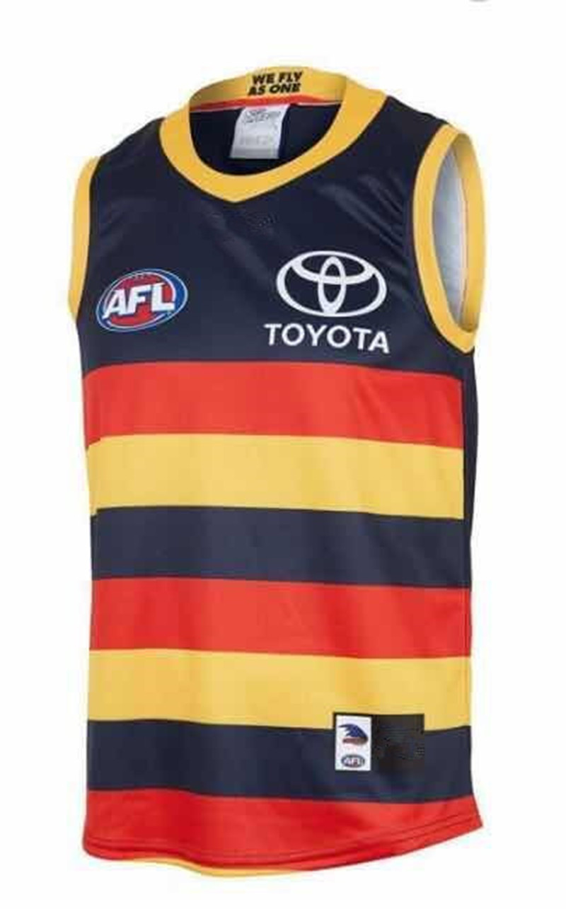 AFL ADELAIDE CROWS 2019 MEN'S HOME JERSEY size S-3XL Print custom names and numbers Top quality Free shipping(China)