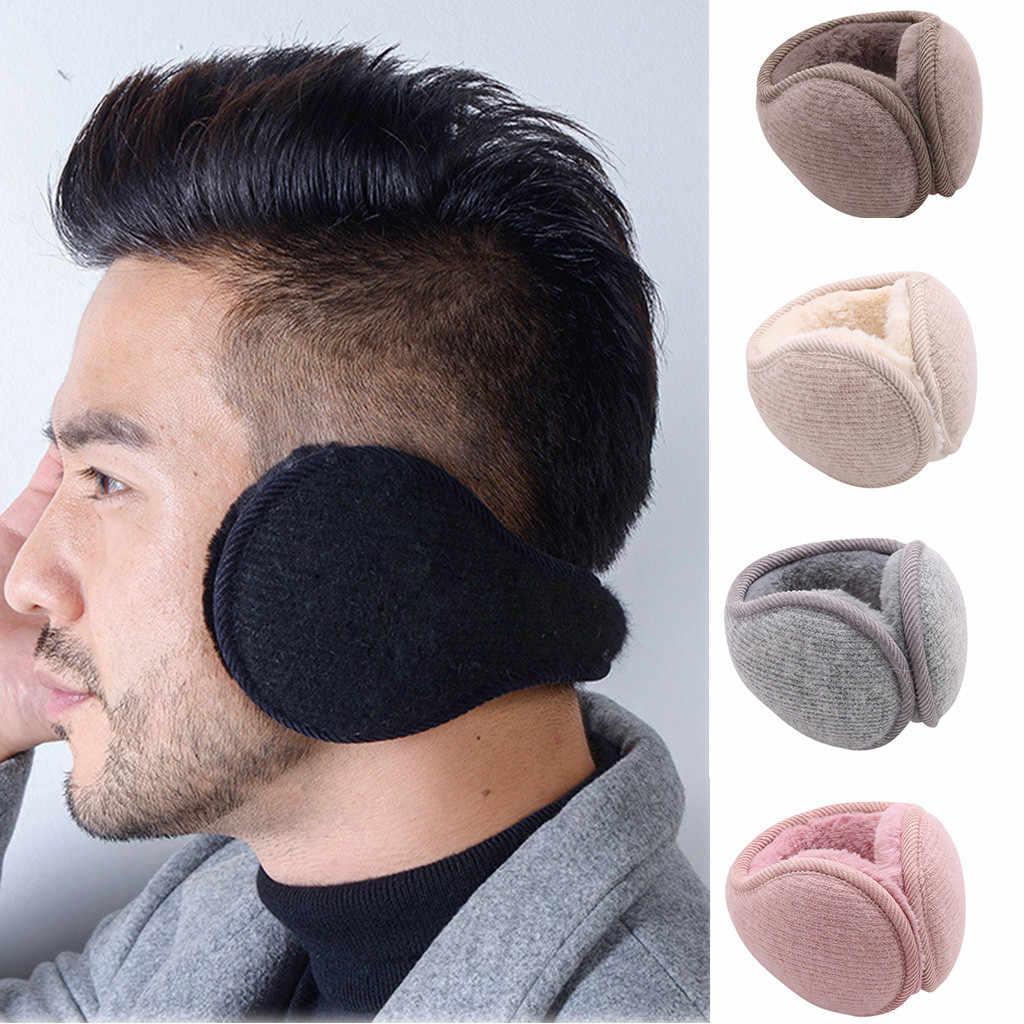Fashion Foldable Unisex Knitted EarMuffs Winter Warm Plus Velvet EarMuff  Women Men Knitted Ear Muffs Adult Thicken Earmuffs Men's Earmuffs  -  AliExpress