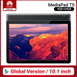 Global Version HUAWEI MediaPad T5 4GB 64GB Tablet PC 10.1 inch Octa Core Dual Speaker 5100 mAh Support microSD Card Android 8.0