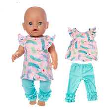 Fit 18 inch 40cm-43cm Born New Baby Doll Clothes Doll Down Blue Suit Skirt Yarn Girl skirt Accessories For Baby Birthday Gift doll clothes accessories white down jacket fit 18 inch american girl doll clothes best gift for