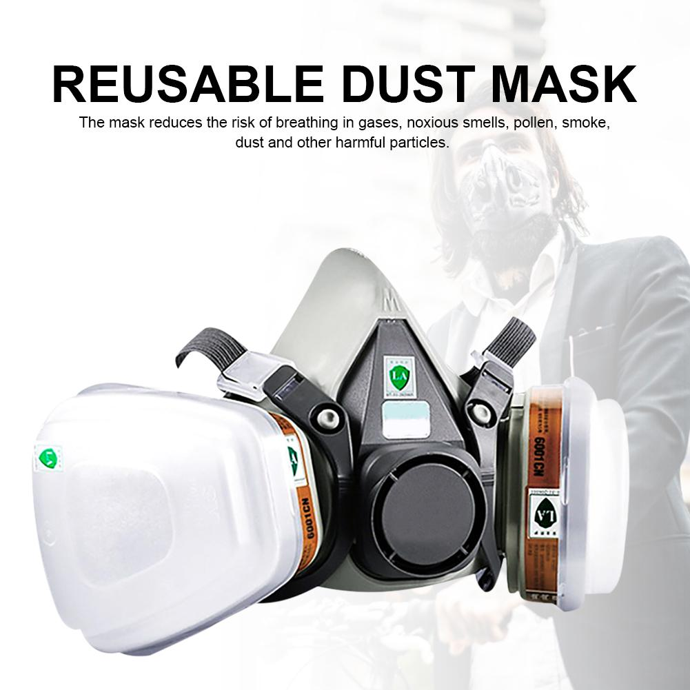 Breathing 6200 Mask Respirator Cycling Gas Dust Mask For Dust Fog Bacteria Prevention Painting Chemical Laboratory