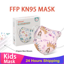Kn95 virus children mask children FPP2 mask children mascara mask mascara Niños Negra