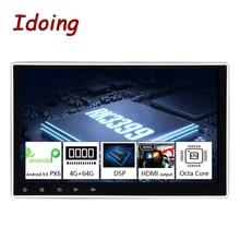 "Idoing10.2 ""PX6 4G + 64G أندرويد 10 لسيارة عالمية لتحديد المواقع DSP راديو لاعب IPS شاشة الملاحة الوسائط المتعددة بلوتوث لا 2 الدين DVD"
