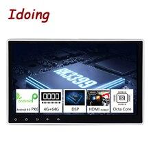 "Idoing10.2 ""PX6 4G + 64G אנדרואיד 10 עבור האוניברסלי לרכב GPS DSP רדיו נגן IPS מסך ניווט מולטימדיה Bluetooth לא 2 דין DVD"