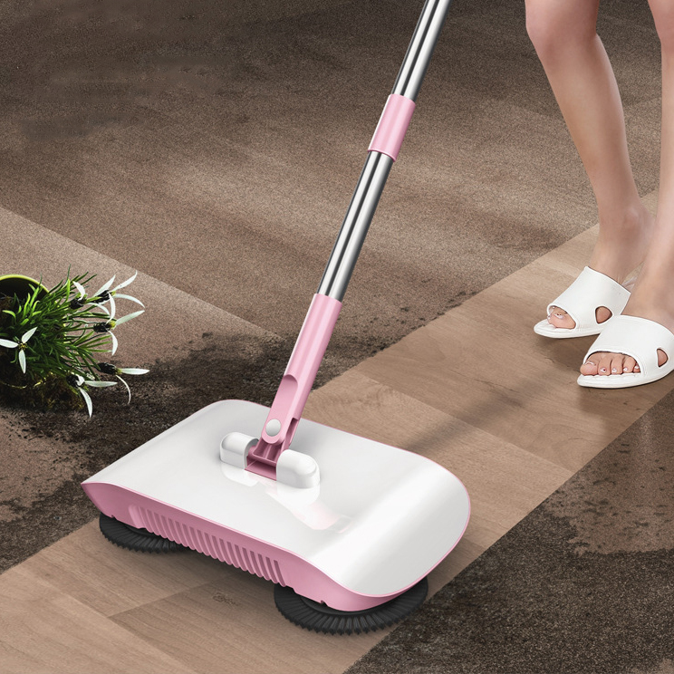2 in1 360 Degree Lazy Hand Push Floor Mop Sweeper Mops Sweeper Magic Broom Dustpan Sweeping for Floor Cleaning Squeeze Mop