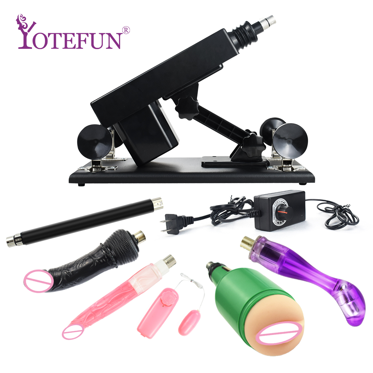 Automatic Retractable Male and Female Masturbator <font><b>Sex</b></font> <font><b>Machine</b></font> Gun <font><b>Sex</b></font> Toys For Women With Vagina Cup and <font><b>Dildos</b></font> Pretty Love image