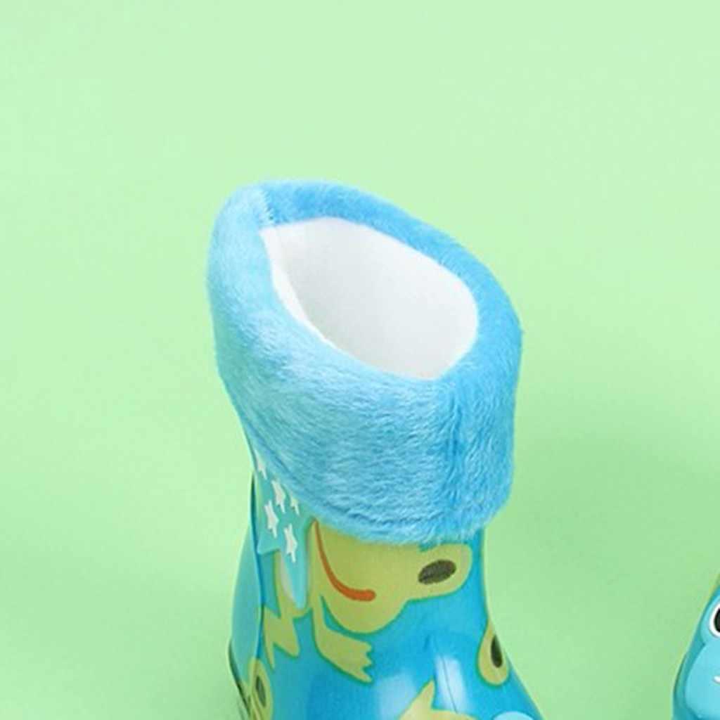 Winter Kinderen Warme Regen Schoenen Waterdicht Baby Schoenen Kind Animal Prints Slip-On Rubber Baby Baby Regen Laarzen Bebek ayakkabi