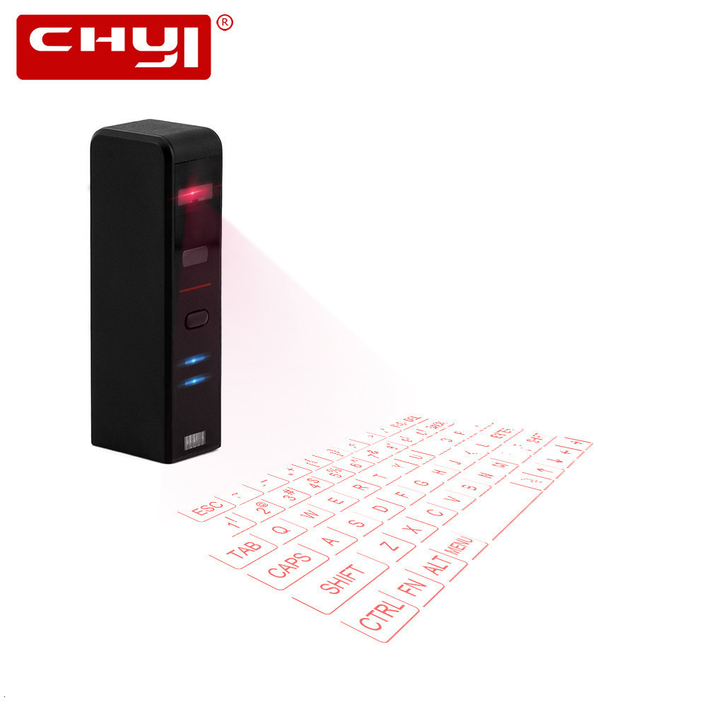 CHYI Bluetooth Wireless Virtual Projection Keyboard Mini QWERTY Laser Keypad For Iphone Android Smart Phone Ipad Tablet Computer