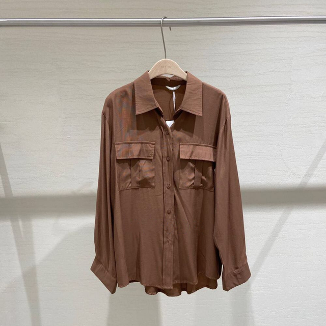 REALEFT Autumn 2020 New Solid White Women's Blouse Pockets Shirt Tops Long Sleeve Turn-down Collar Korean Style Loose Blouses 6