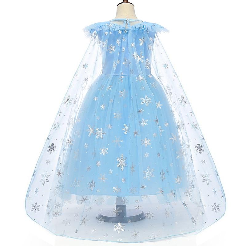 H85a517b06afb488887fc5ba19d7de202c Cosplay Queen Elsa Dresses Elsa Elza Costumes Princess Anna Dress for Girls Party Vestidos Fantasia Kids Girls Clothing Elsa Set