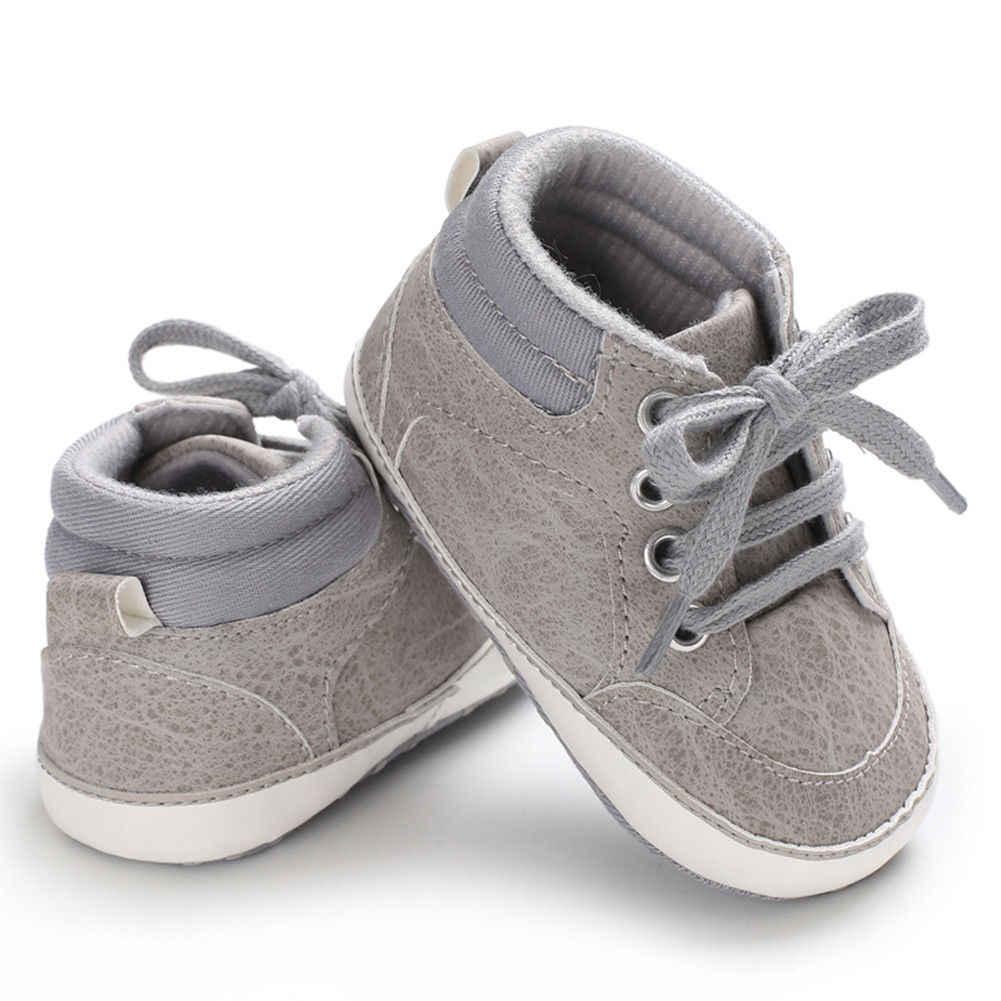 Newborn Baby Girl Suola Morbida In Pelle Scarpe Da Culla Antiscivolo Sneaker