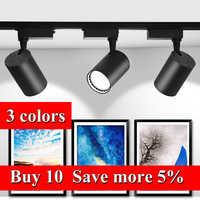 Veränderbar LED Track Licht 12W 20W 30W COB Track Lampe Lichter Schiene Scheinwerfer Leds Tracking Leuchte Spot lichter für kleidung Shop