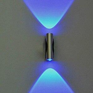 Lámpara de pared LED de doble cabeza, candelabro de pared del porche para el hogar, lámpara de cabeza azul claro para el hogar, dormitorio, restaurante, jardín #10