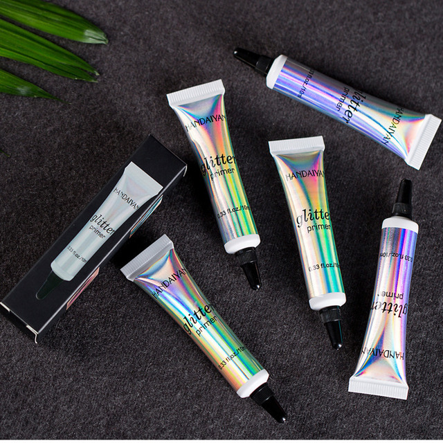 Glitter Eyeshadow Primer Professional Base Primer Eye Shadow Makeup Cream Sequins Multifunctional Makeup Gel White Shimmer 4