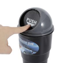Samochód kosz na śmieci popielniczka samochodowy kosz na śmieci na śmieci kosz na śmieci uchwyt na akcesoria do wnętrz akcesoria samochodowe tanie tanio ROUND Rolling typu pokrywy Z tworzywa sztucznego Cylinder Blue gray red plastic 20cm 8 5cm 6 8cm 16 5 x 10 5 x 10 5cm 104g