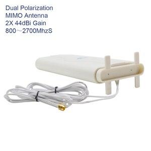 Image 4 - 700 ~ 2600 MHz 88dbi 3G 4G LTE Ăng Ten Di Động Ăng Ten 2X CRC9/TS9/SMA Đực cổng Kết Nối MIMO Bảng Điều Khiển Anten + 2 Mét Cáp Cho Router