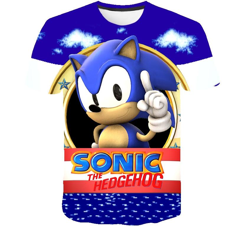 3d Print Children Sonic The Hedgehog Boys Girls Tops Tees Cartoon Design Funny T Shirts Mario Kids Clothes Summer Casual T Shirts Aliexpress