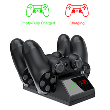 PS4 Controller Charger, Ps4 Charging Docking Station LED Light Indicators Bottom PS4/PS4 Slim/PS4 Pro Controll