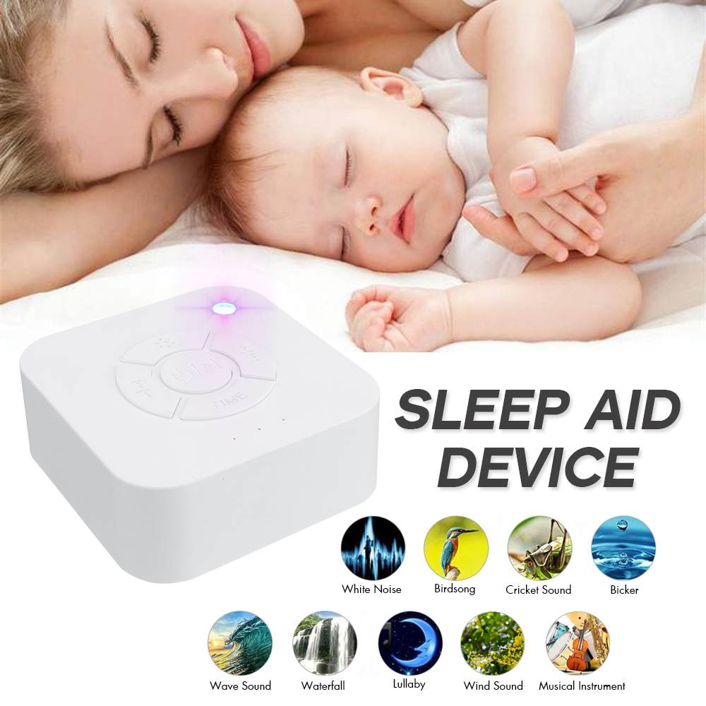 White Night Light Noise Sleep Instrument 9 Nature Sounds LED Machine Sleeping Aid Device Relax Therapy