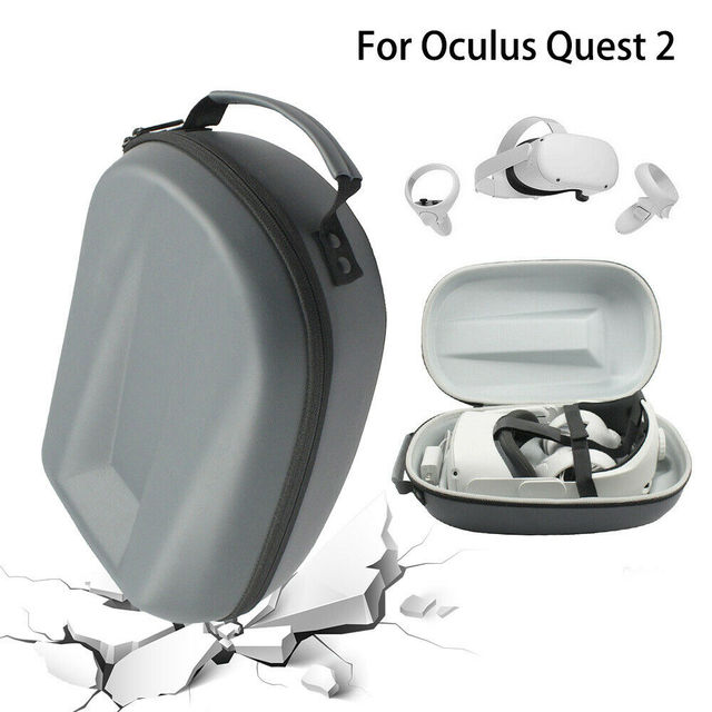 VR Accessories For Oculus Quest 2 VR Headset Travel Carrying Case Hard EVA Storage Box Bag For Oculus Quest2 Protective Pouch 2