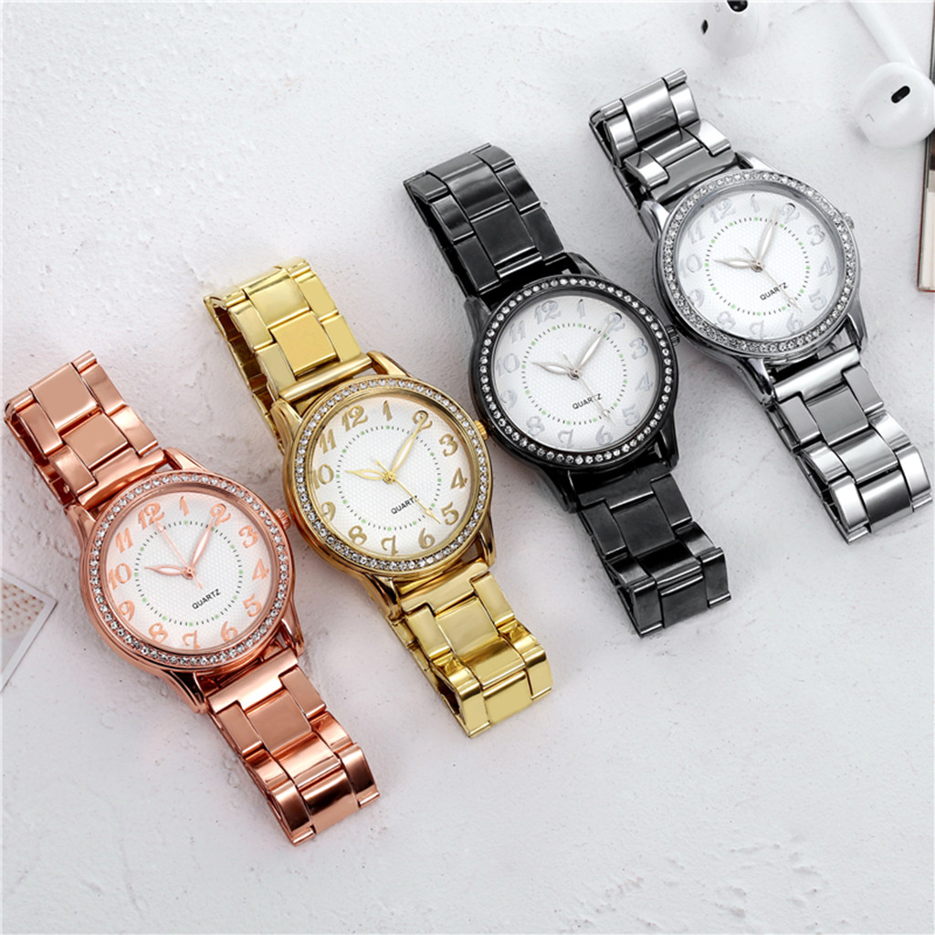 Reloj Mujer Gold Watch For Woman Fashion Rhinestone Women Quartz Luxury Wristwatch Ladies Watch Women Watch Relogio Feminino #11