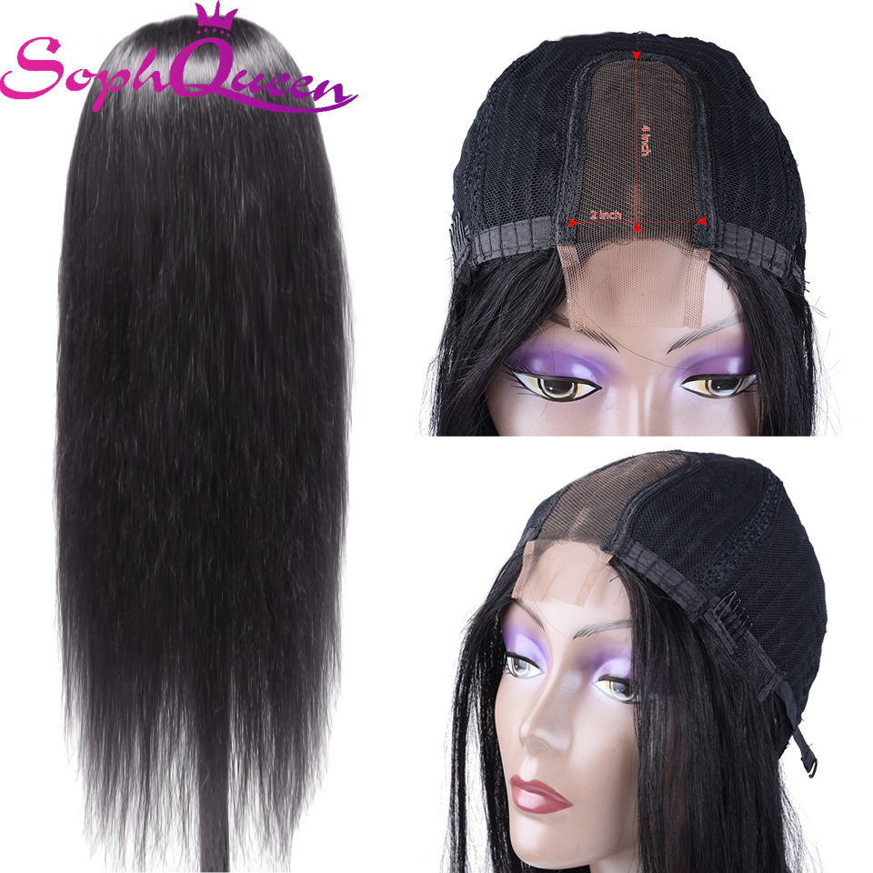 Soph Queen Hair Indian Straight Human Hair Wigs 2*4 Lace Wig Remy Human Hair Wigs  For Black Women Pre Plucked