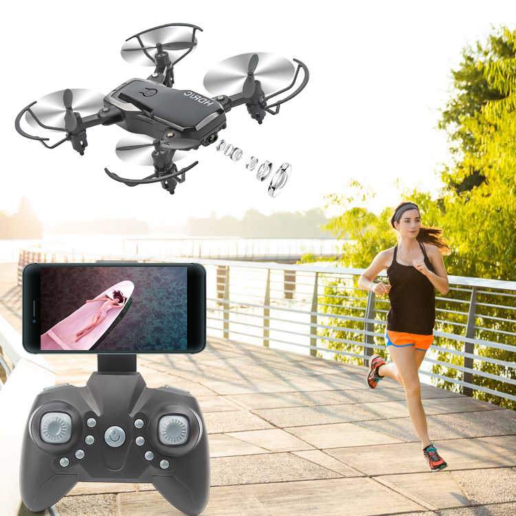 AHOHA Rc Mini Drone With HD Camera Mini RC Quadcopter RTF WiFi FPV Foldable Helicopter Altitude Hold Mode For 14 year Kids Child