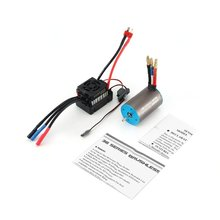 SURPASSHOBBY 3656 3200KV Brushless Sensorless Motor with 60A ESC Combo Set for 1/10 RC Car Truck Part Accessories skyrc bma 01 brushless motor analyzer tester rpm kv voltage timing noise amp hall checker motolyzer for rc car part with lcd