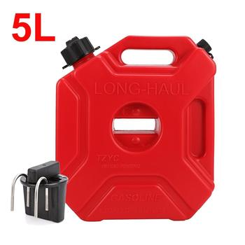 New Portable 3L 5L Fuel Tank Red Gas Cans Spare Petrol Plastic Tanks Mount Motorcycle Jerry Can Gasoline Oil Container Fuel-jugs topauto 4 5l car fuel tank cap cover key oil gasoline diesel stainless steel storage petrol bucket car motorcycle accessories