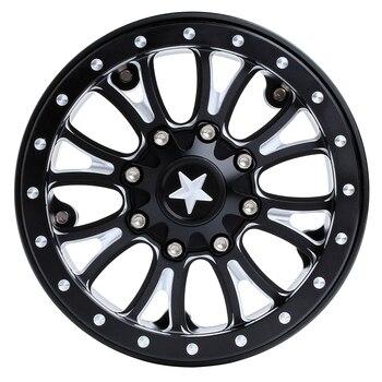 INJORA 4Pcs 2.2 Beadlock CNC Aluminum Alloy Wheel Rim for 1/10 RC Crawler Car Traxxas TRX-6 Axial SCX10 90046 Wraith RR10 2