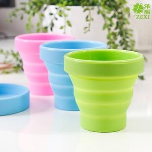 Image 2 - Складная силиконовая чашка для менструальной стерилизации, гибкая для чистки менструальных чашек, складная чаша для кемпинга и повторного использования