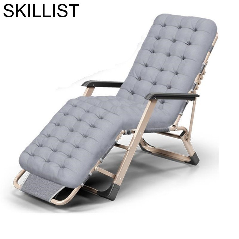 Plegable Transat Tumbona Parágrafo Cadeira Salão De Jardin Mobiliário de Jardim Pátio Sofá Cama de Acampamento Ao Ar Livre Cama Dobrável Chaise Lounge