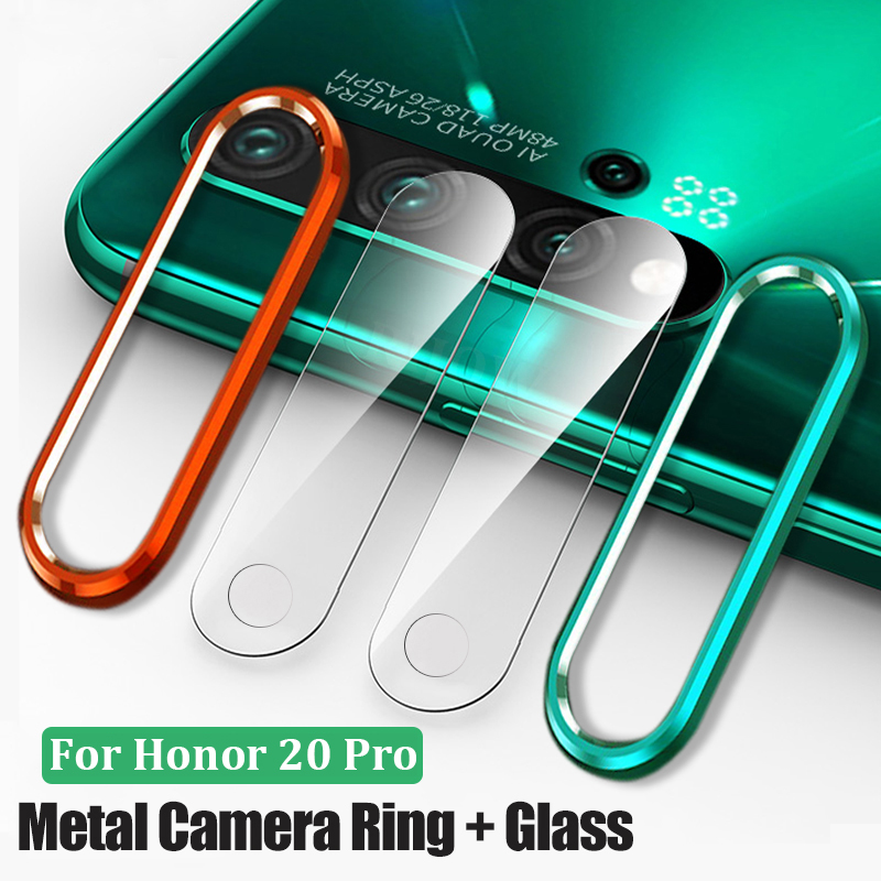 Tempered-Glass Screen-Protector-Film Camera-Lens Metal-Ring Nova Huawei Honor for 20/pro title=