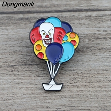 K504 Ghost Clown It Clown Horror Metal Enamel Pins and Brooches for Lapel Pin Backpack Bags Badge Collection Gifts For Fans k678 ghost clown it horror metal enamel pins and brooches for lapel pin backpack badge collection halloween gifts for kids