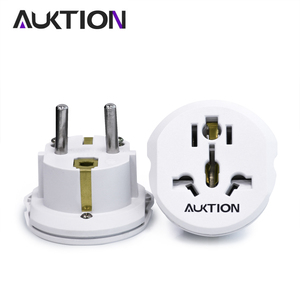 Image 1 - AUKTION 5Pcs/Lot 16A Universal EU(Europe) Converter Adapter 250V AC Travel Charger Wall Power Plug Socket Adapter For US UK AU
