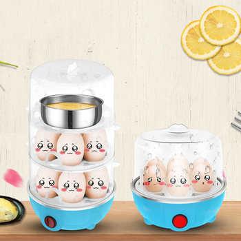 Egg Boiler Steamer 3 Layer Rapid Egg Cooker Egg Poacher Boiler 21 Egg Boiles Capacity Removable Tray