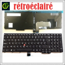New French Backlit Azerty Keyboard for Lenovo ThinkPad W540 W541 W550s T540 T540p T550 L540 Edge E531 E540 L570 0C44913  FR