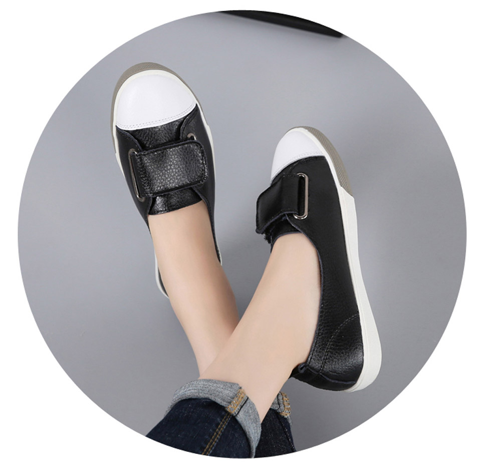 H85a71543f68f4f76adc5d15925ab27921 - Ngouxm Fashion Women Loafers Flats Woman Lady female Slip On White Genuine Leather Moccasins Casual Shoes zapatos de mujer