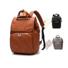 Backpack Travel bag Mummy bag Diaper bag Pu leather Shoulder back Portable Multi function Mybag shows
