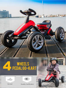 Toy Pedal Go-Kart Kids 4-Wheel for 1-5 Ages Ride on Boys Girls Birthday-Gifts Outdoor
