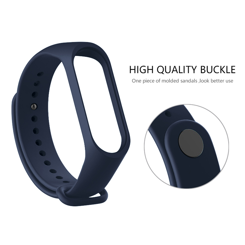 For Mi Band 4 Strap Silicone Wristband Bracelet Replacement for Xiomi Band miband 4 mi band 3 Wrist Strap for Mi band4 band3 c