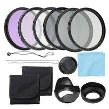 Комплект фильтров для объектива с двойной резьбой UV CPL FLD и нейтральный фильтр Altura Photo ND, аксессуары для фотосъемки 58 мм 52 мм