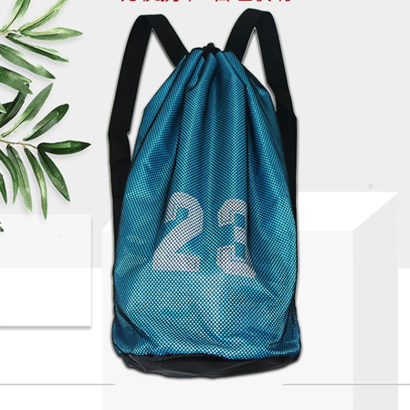 Sports Ball Backpack Basketball Football Storage Net Bag Training Ball Mesh Bag WHShopping