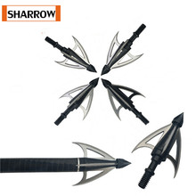 12pcs Stainless Steel 3 Fixed Blade Archery Broadheads 100 Grain Arrow Head  Point Special arrows