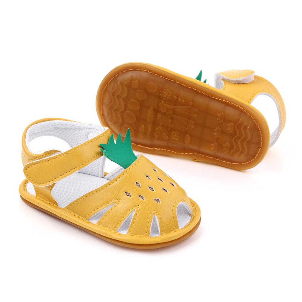Baby Girls Toddler Shoes Cartoon Soft Leather Hollow Out Breathable Rubber Flat Sandles Toddler First Walkers Summer Sandals #20