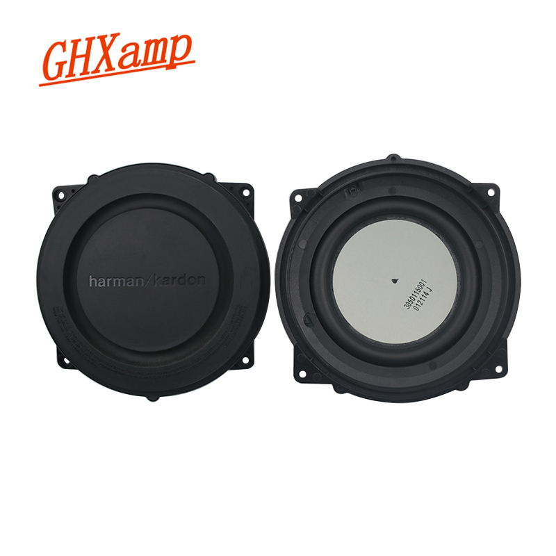 GHXAMP 4 inch Bass Radiator Woofer Passive Radiator Rubber Edge 121mm Low Frequency Radiator for Bluetooth Speaker DIY 2pcs|Speaker Accessories| |  - title=