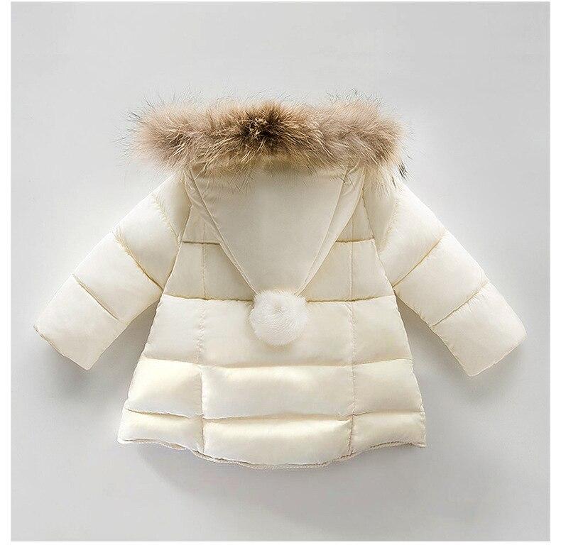 US $20.94 50% OFF Baby Mädchen Winter Jacke Fell Kapuze Jungen Mädchen Dicke Warme Kleidung Rot Neue Jahr Mantel Infant Kinder Outdoor Parka Mäntel 1