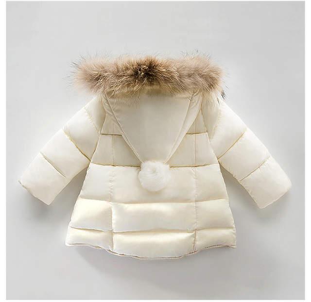 Mantel Parka Us20 Jahr Warme Jungen Dicke Neue 50Off 1 Outdoor 94 Kapuze Kleidung Kinder Mäntel Jacke Fell Rot Infant baby Mädchen Winter ARqS54c3jL